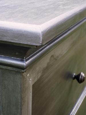 DIY [Restoration Hardware Inspired] Faux Zinc Nightstand
