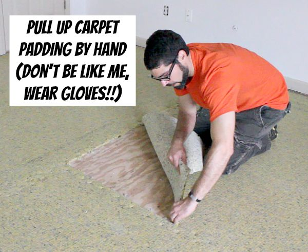 John recently pulled up a carpet in our den, which had been trashed by our dogs. Next up, the bedroom carpet! Hometalk :: How to Remove Old Stinky Carpet: A Complete Step-by-Step Guide
