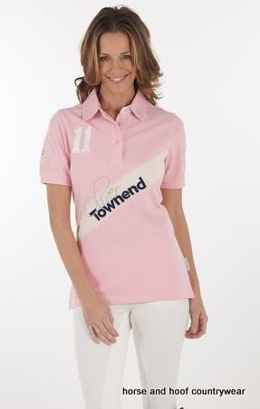 Townend Flint Limited Edition Polo Shirt Limited Edition Oliver Townend fitted ladies polo shirt Townend appliqué with signature embroidery Oliver across the front.