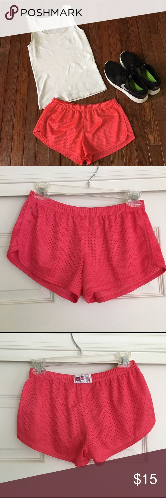 """Pink Soffee Shorts """"Jr Teeny Tiny"""" Soffe shorts. Very short. In perfect condition. Super soft hot pink workout shorts! Adorable shorts perfect for summer workouts! Soffe Shorts"""