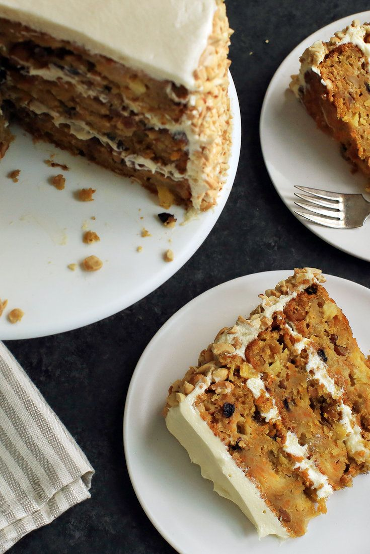 This magnificent version of the popular banana-pineapple-pecan cake developed by Southern Living magazine in 1978 is a Thanksgiving-worthy dessert for the pie averse: a supremely moist, dense cake crowded with sweet potato, roasted bananas, pineapple, currants and peanuts finished with a lightly sweet, butter-cream cheese frosting. (Photo: Jim Wilson/NYT)