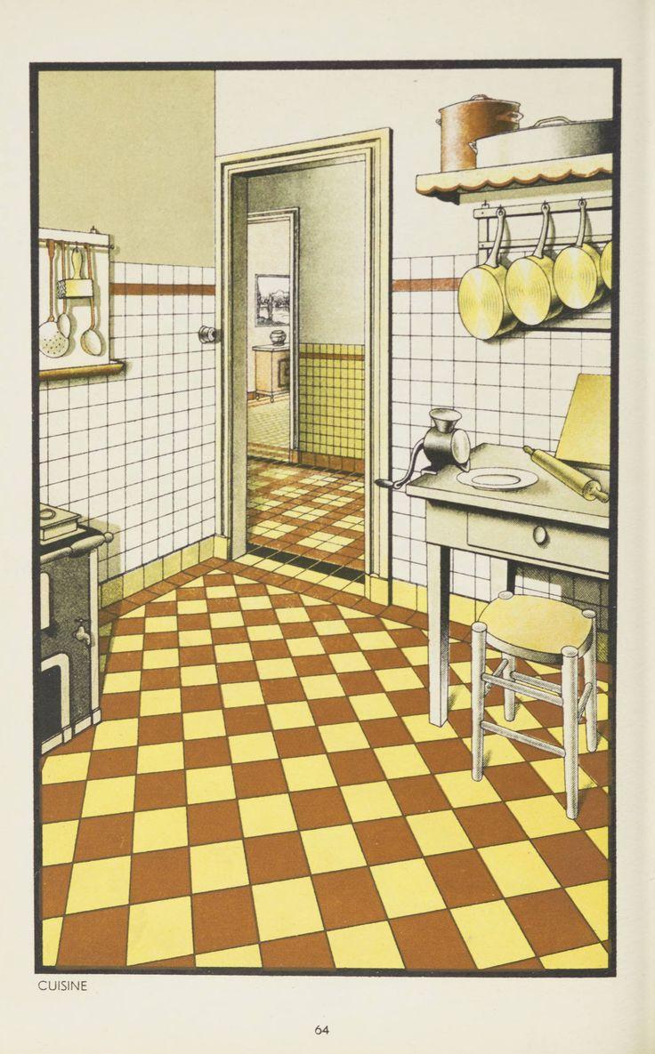 Carreaux & paves ceramiques de Sarreguemines, Pont Ste. Maxence. 1930. Metropolitan Museum of Art (New York, N.Y.). Thomas J. Watson Library. Trade Catalogs #TileDesign #KitchenTile #FrenchKitchen