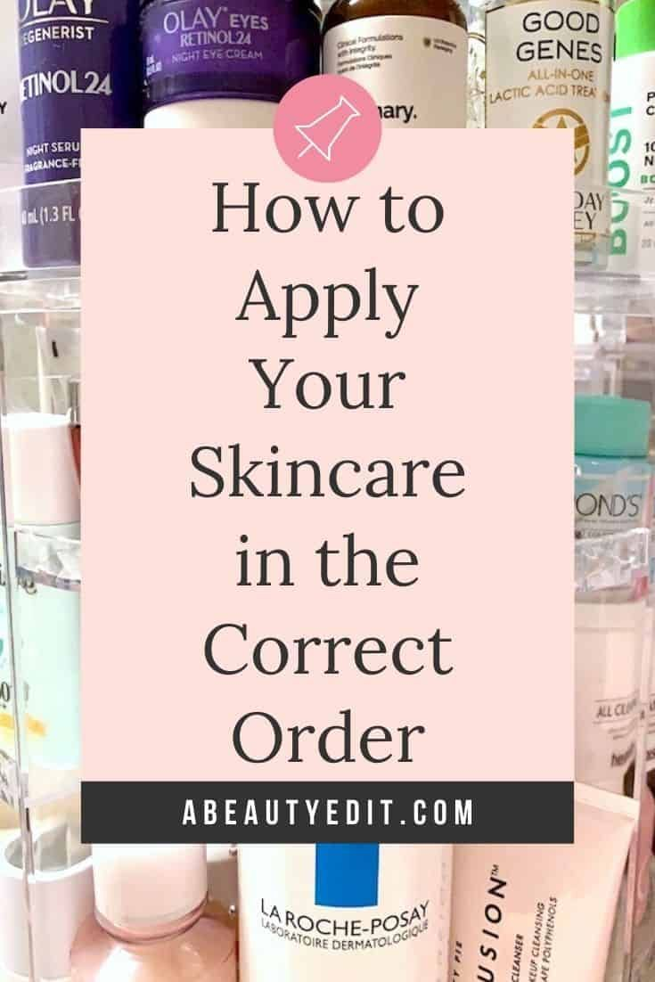 How To Apply Your Skincare Products In The Correct Order Skin Care How To Apply Diy Skin Care In 2020 Skin Care Solutions Skin Care Diy Skin Care