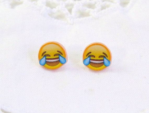 Laugh Crying Emoji earrings  Laugh Cry Emoji  by CleopatraCandy