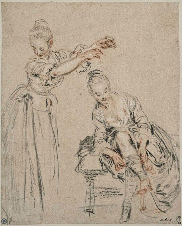 drawing by Jean-Antoine Watteau.. how dreamy #art