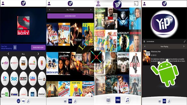 YipIPTV1.2 APK FOR Stream Live TV VOD ON ANDROID Device