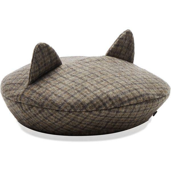 Billy Ears Cap | Moda Operandi ❤ liked on Polyvore featuring accessories, hats, baker boy, newsboy hat, cat ear cap, newsboy cap and cap hats