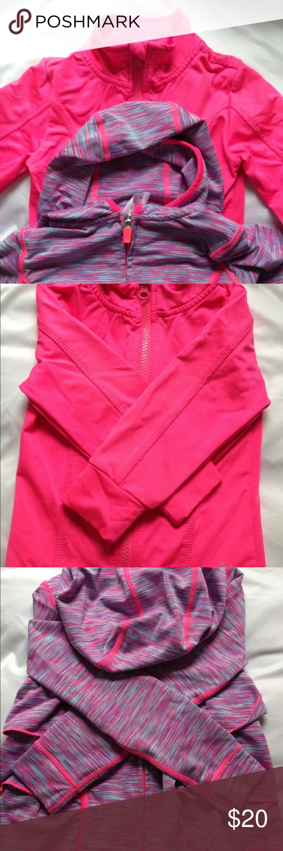 2 Jackets + 3 Leggings Neon pink jacket has some pilling but no spills. I will add 3 leggings (last picture. Barnds: Gymboree, Macy's, 90 Degree by Reflex) to go with them! Purple jacket is 3T. Pants are all 2T/24 months. 90 Degree By Reflex Jackets & Coats