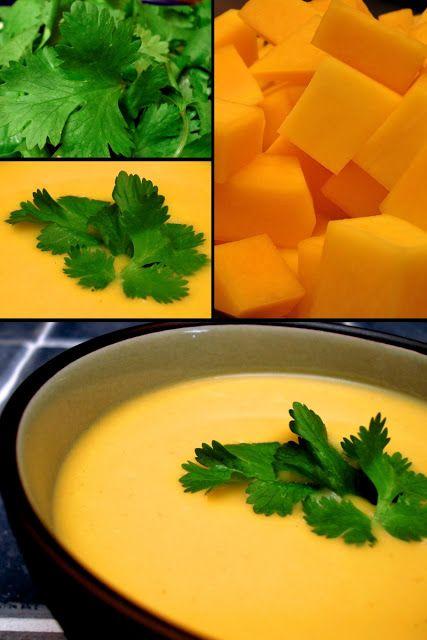 1 recette de soupe: Potage de Courge Butternut au Cari Thaï