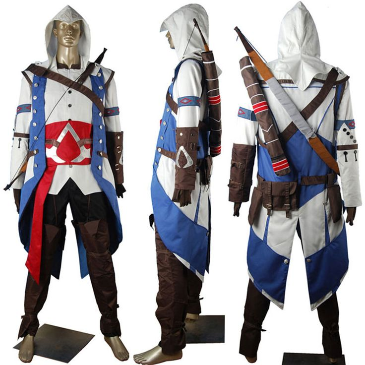 Assassins Creed 3 III Connor Kenway cosplay costume pirate costume toys for kids children unique halloween costume comic-con anime costumes