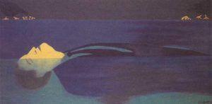 Titulo: La corriente (1992) // Autor: Beatriz González // Tipo de obra: Pintura (óleo sobre lienzo)
