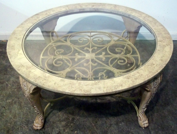 23 best tables with glass inserts images on pinterest for Kitchen table with glass insert