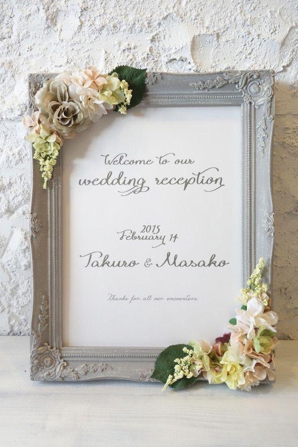 置いているだけで華やかな印象のウェルカムボード♡シンプルな結婚式の時に参考にしたいグレーのウェルカムボードまとめ一覧♡