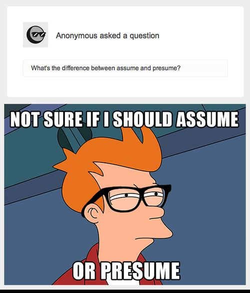 Presume And Assume Related Keywords  Suggestions - Presume And