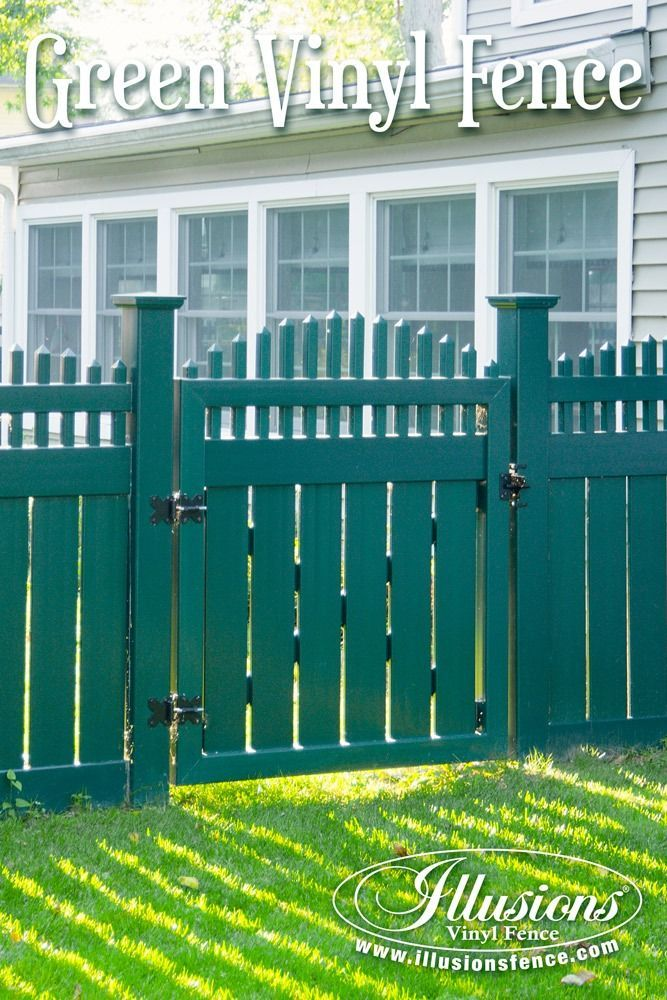 Vinyl fence ideas Fence Designs Fence Ideas That Add Curb Appeal Green Pvc Vinyl Fence And Gate From Illusions Vinyl Fence Adds Curb Appeal And Class To You Home Decor fenceideas Manningfamilyorg 17 Fence Ideas That Add Curb Appeal To Your Home Pool Fence Ideas