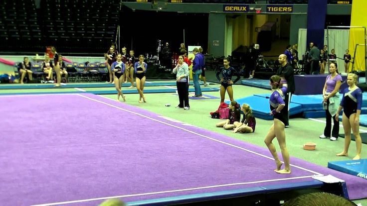 Lauren's Level 7 gymnastics floor routine 9.750