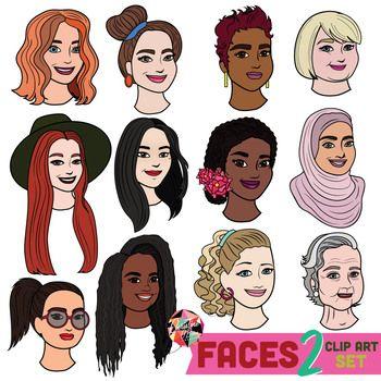 Faces 2 Clip Art Set
