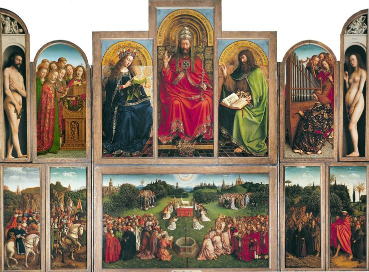 """Jan Van Eyck : """"retable de l'agneau mystique"""""""