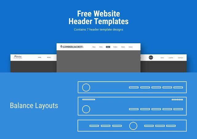 Website Header Template PSD Free Download