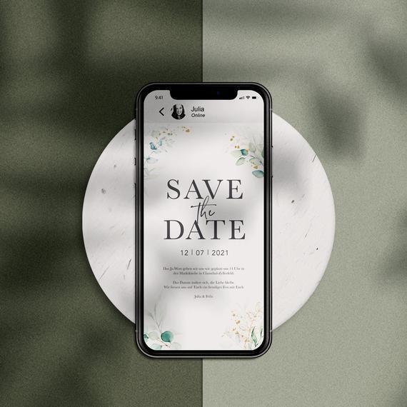 Save The Date Card Elektronisch Fur Email Und Whatsapp Save The Date Save The Date Cards Save The Date Online