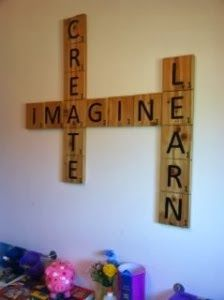 "Scrabble Wall Decor- want a ""word"" themed room eventually..."