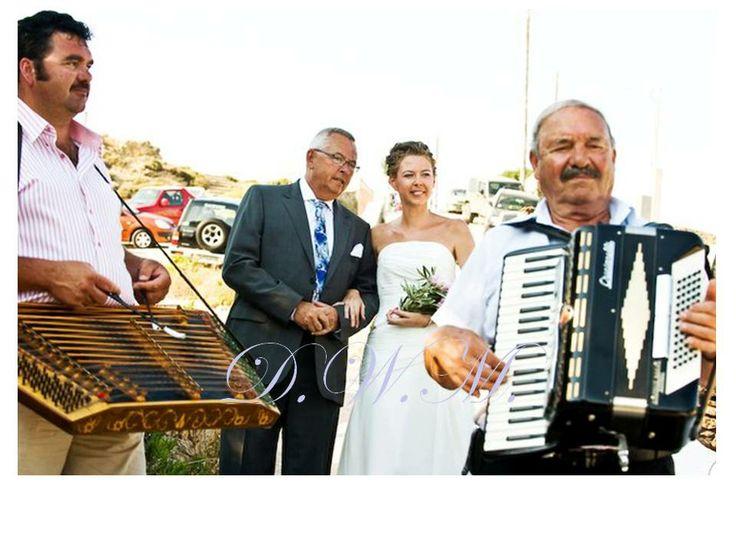 Dream your Wedding in Mykonos www.mykonos-weddings.com Greek traditions  Musicians accompany the bride