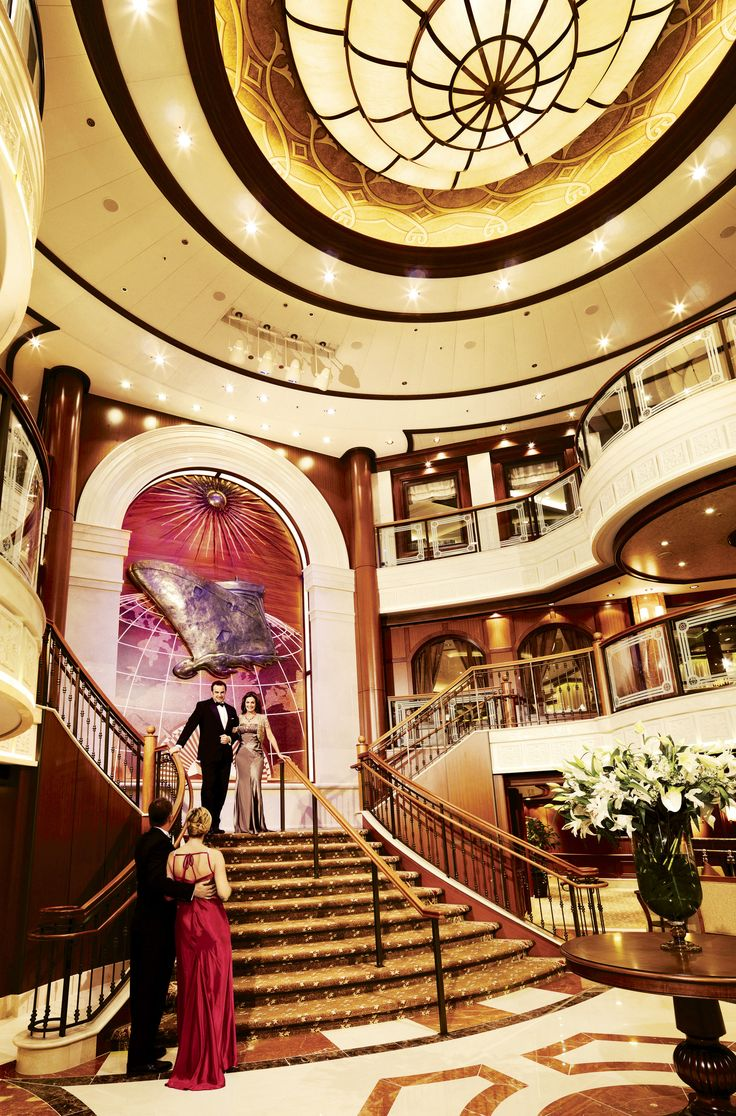 The Grand Lobby on board Queen Victoria.