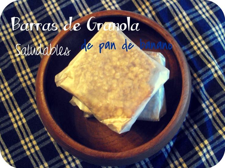 Barras de granola de pan de banano