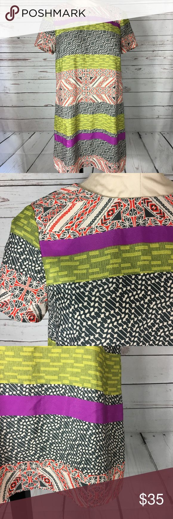 Mixed Print Shift Dress Beautiful bold colors. EUC impulse Dresses