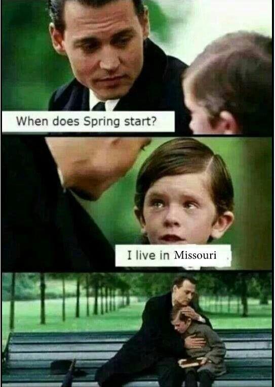 Lol! Spring has been prolonged wayyyy too long in mo! So funny!