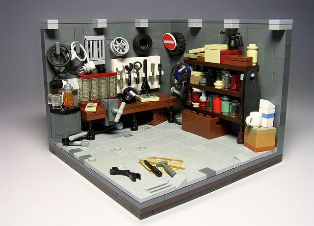 Garagem de lego.