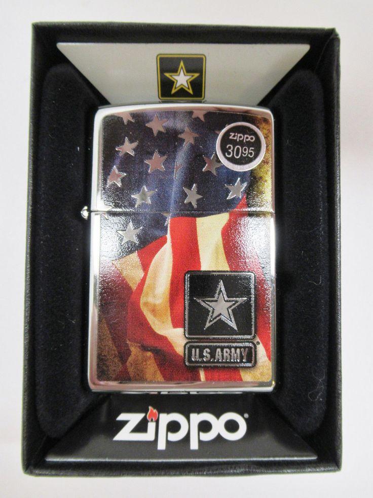 NIB Zippo Lighter Windproof 28930 US ARMY FLAG $30.95 #2947