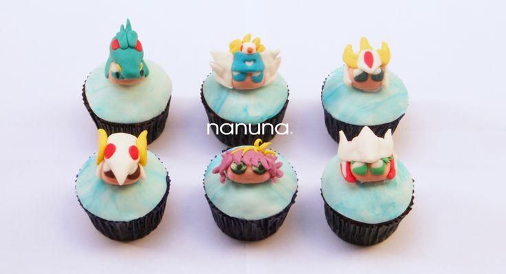 Cupcakes Saint Seiya kawaii. Los caballeros del zodiaco. #Cupcakes #Tortas #Argentina #Nanuna Conocenos en http://nanuna.com.ar/
