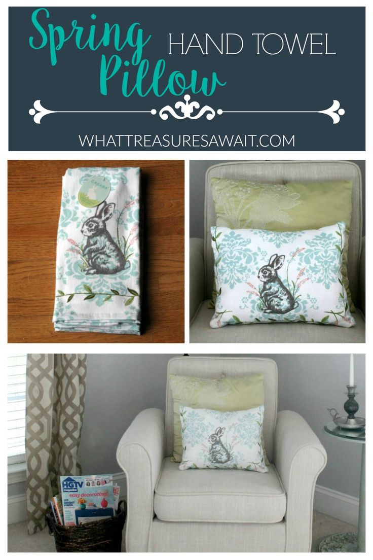 Create a Spring Pillow from a Hand Towel