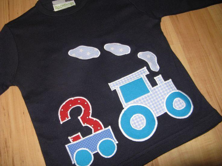 """Geburtstagsshirt """"Traktor 3"""", dunkelblau von *RockFrogs*Kindersachen   auf DaWanda.com"""