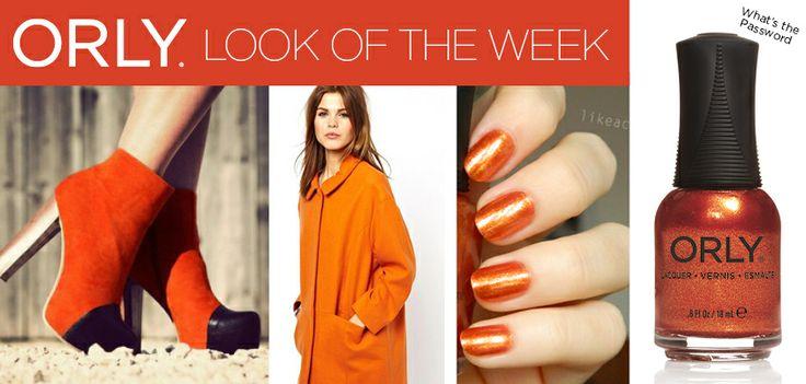 Orange fashion con Smalto ORLY What's the Password http://shop.smaltiorly.it/catalogo/prodotti_dettaglio.asp?brand=orly&cat=smalti&subcat=collezione-secret-society&art=or20808-whats-the-password&page=1