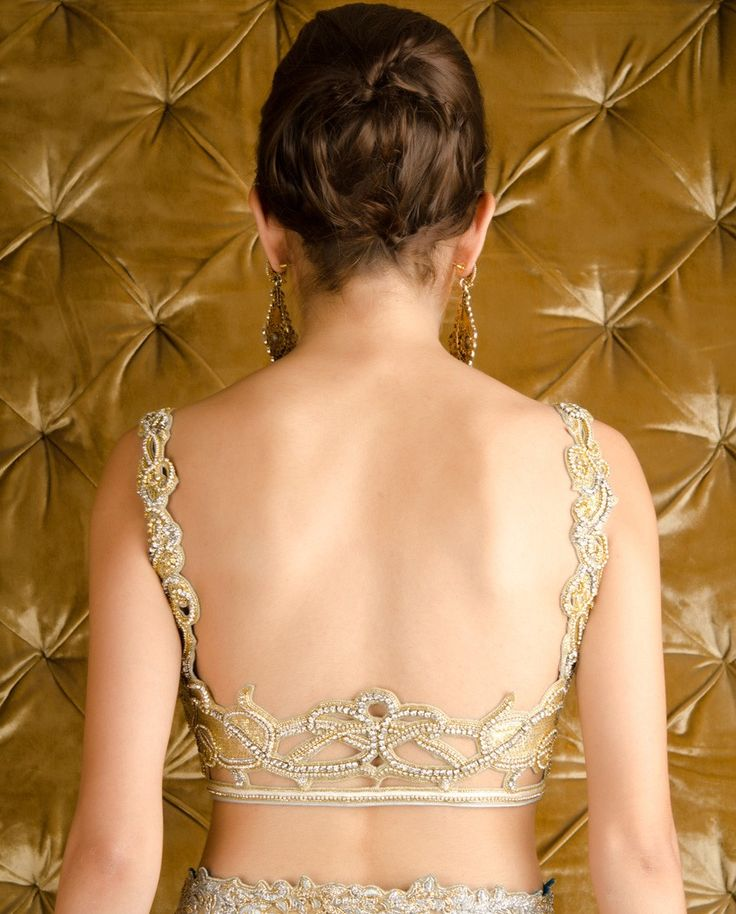 Sequined Backless Blouse