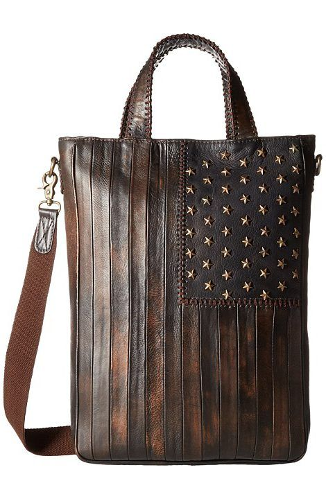 Scully Leather Patriotic Rockin Tote (Multi) Tote Handbags - Scully, Leather Patriotic Rockin Tote, B127-HB, Bags and Luggage Handbag Tote, Tote, Handbag, Bags and Luggage, Gift - Outfit Ideas And Street Style 2017