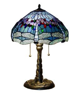 @Overstock - Handcrafted using the same techniques that were developed by Louis Comfort Tiffany in the early 1900s, this beautiful tiffany style table lamp contains hand-cut pieces of stained glass, each wrapp...http://www.overstock.com/Home-Garden/Tiffany-style-Dragonfly-Table-Lamp/2169615/product.html?CID=214117 $88.99