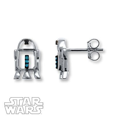 """Wear the """"extremely well put-together little droid"""" on your ears with these adorable R2-D2 earrings!"""