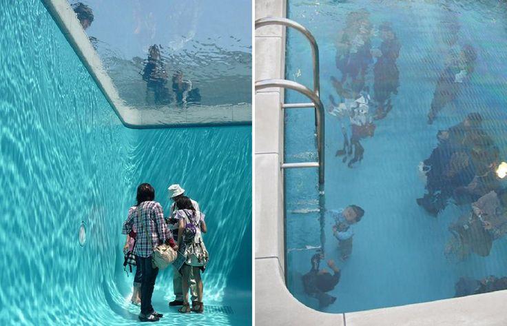 Art installation in 21st Century Museum of Art, at Kanazawa Japan by artist Leandro Erlic