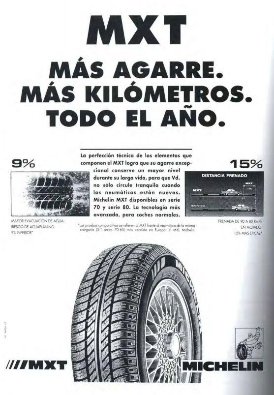 Publicidad Taurina año 1994 Michelin