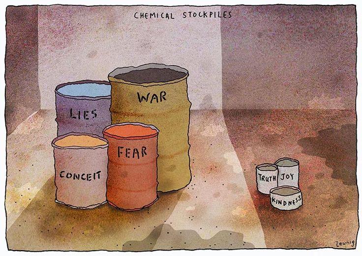 Cemical stockpiles - Michael Leunig