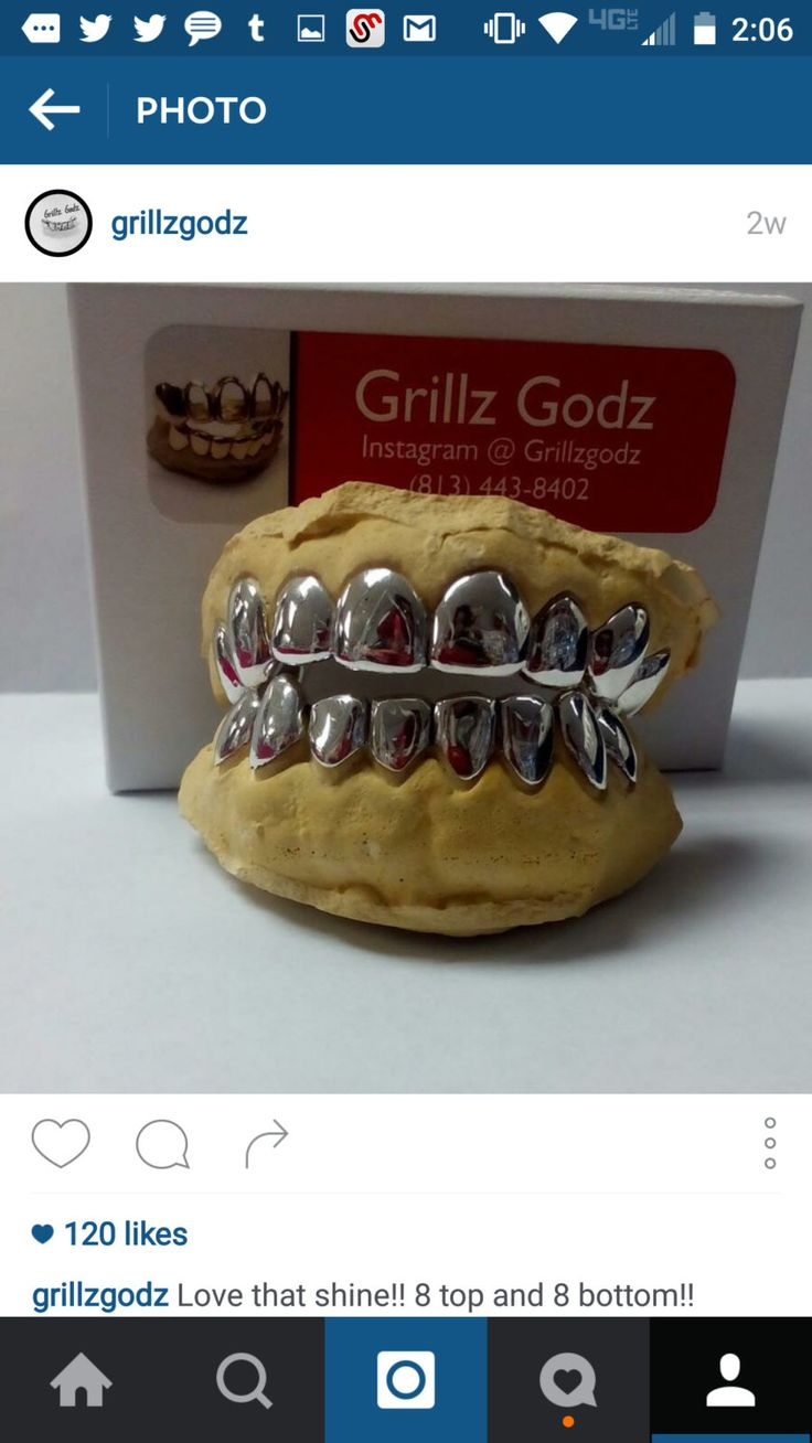 8 top &  8 bottom Silver Grillz,  Deep cut by GRILLZGODZ on Etsy