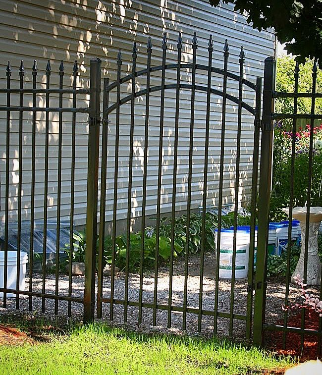 Arched Rockefeller Iron Gate  Fence-All