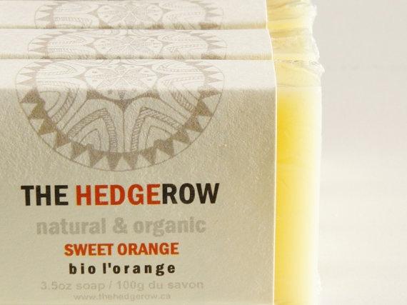 Organic handmade soap gift set in Sweet Orange by TheHedgerowOrganic Soap