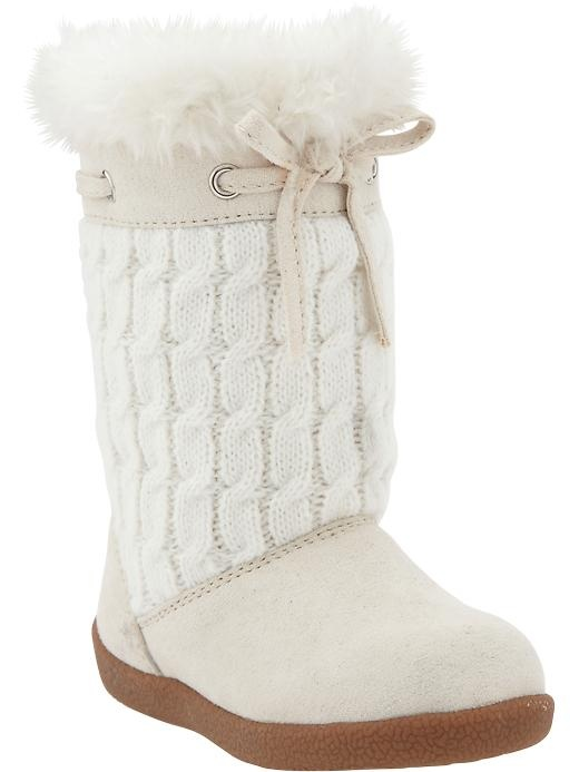 Old Navy | Cable-Knit Sweater Boots for Baby