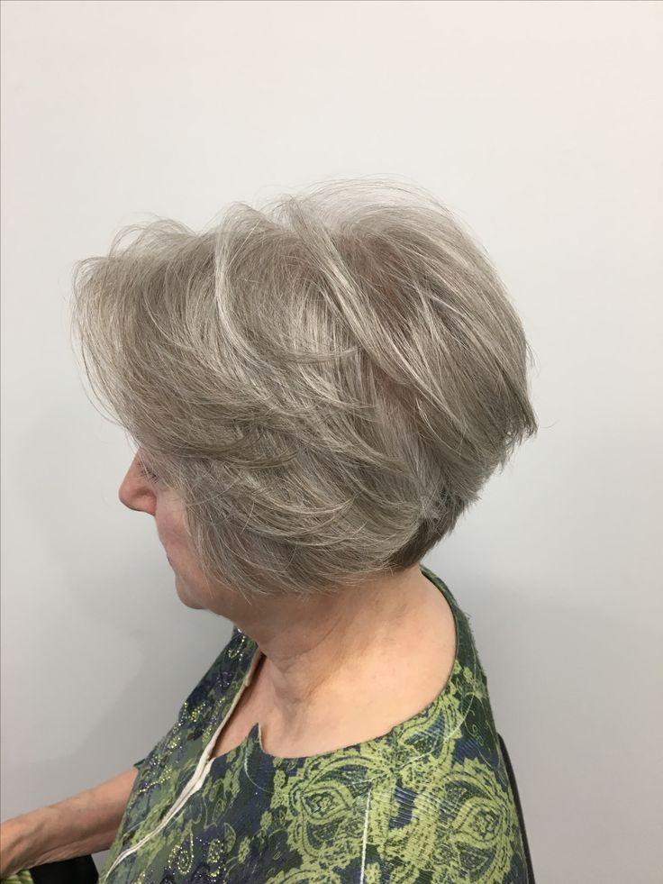 Haircut for fine mature hair- done by Samantha