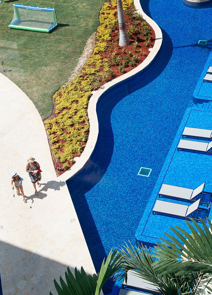 Indulge in an all inclusive family vacation where the pool begins where you room ends.   Hyatt Ziva Rose Hall