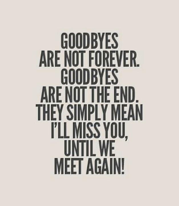not goodbye but until we meet again poem